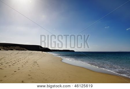 Deserted sandy beach