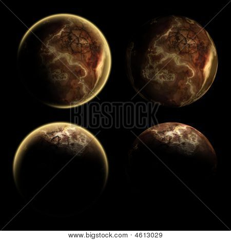 Collection Of Some Different Views Of One Planet