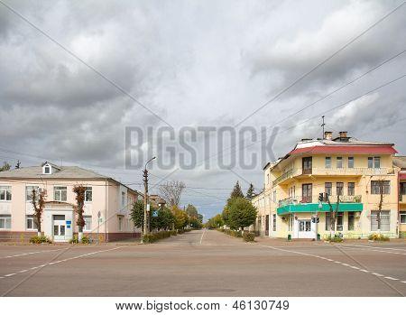 City Street In Korosten, Ukraine