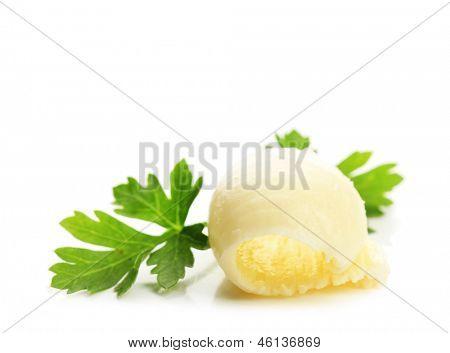 Butter locken, isolated on white