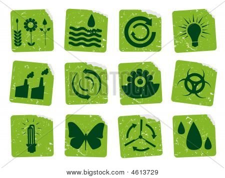 Grunge Ecology Stickers