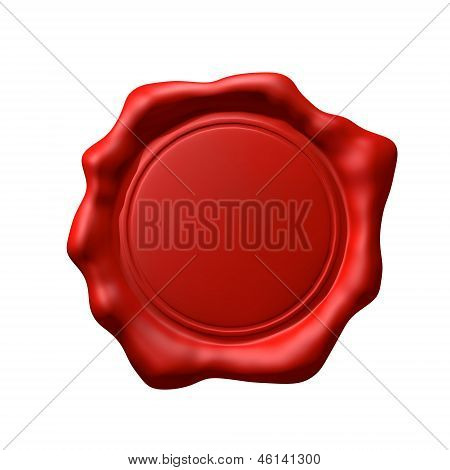 Red Wax Seal 2 - Isolated