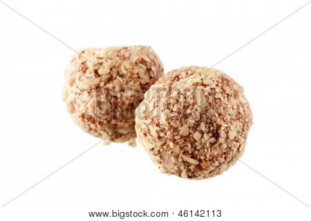 chocolate truffle with nuts