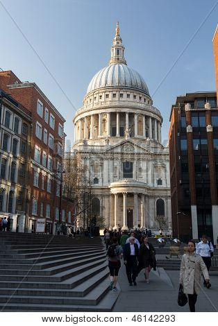 St Pauls Cathedral Church London England At Dusk