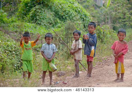 Unidentified street child