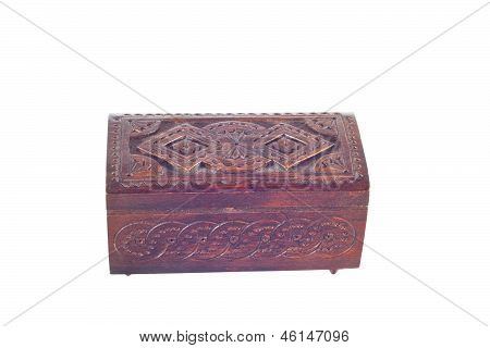 wooden box for female ornaments and jewelry