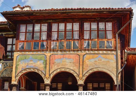A Traditional Old House In Koprivshtitsa Bulgaria, From The Time Of The Ottoman Empire