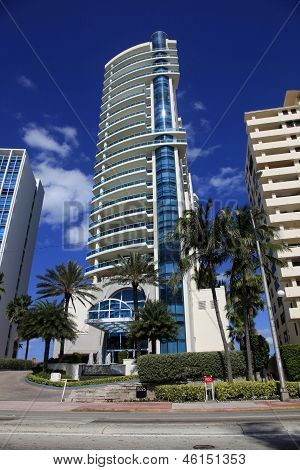 Luxurious Apartment Building In Miami, Florida.