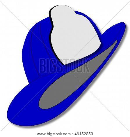 Blue Fire Fighters Helmet