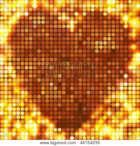 round gold mosaic spots heart