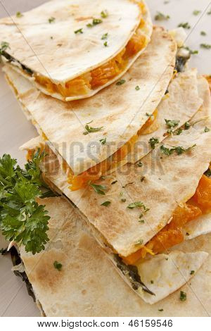 Pumpkin Quesadilla Stack