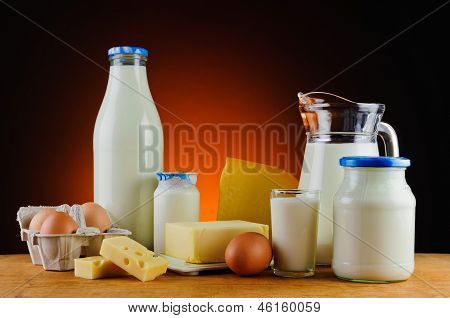 Milk, Cheese, Butter, Eggs And Cream