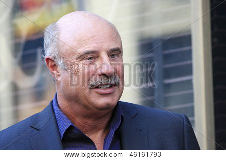 LOS ANGELES - MAY 13: Dr Phil McGraw at a ceremony where Steve Harvey is honored with a star on the Hollywood Walk Of Fame on May 13, 2013 in Los Angeles, California