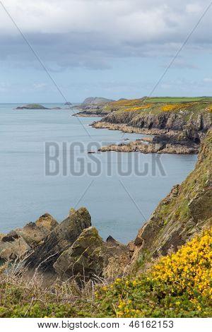 Wales Coast Caerfai Bay to St Nons Pembrokeshire