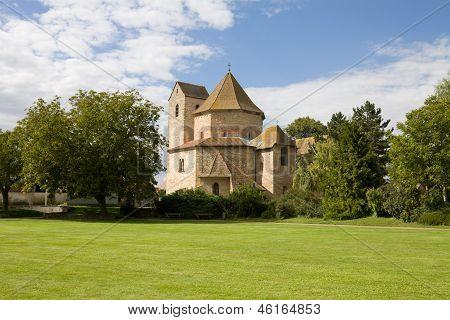 View At Ottmarsheim Abbey Church In France