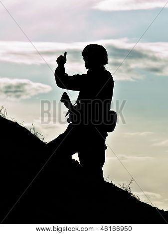 Silhueta de soldado