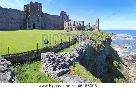 Tantallon Castle Ruins Scotland Tourism