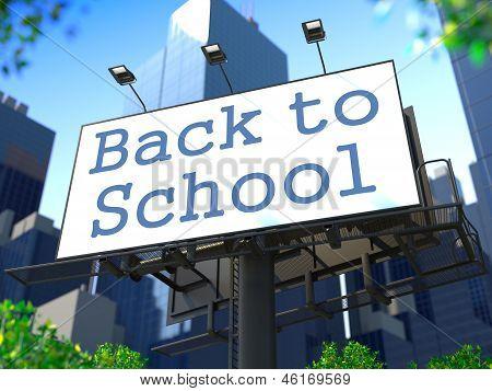 Education Concept on Billboard.