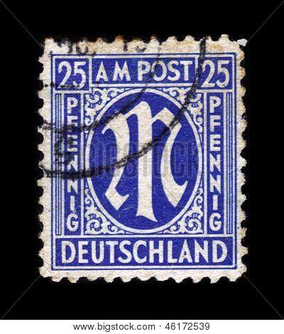 """Definitive Stamp Series """"m"""" In Denomination Of 25 Pfennig"""