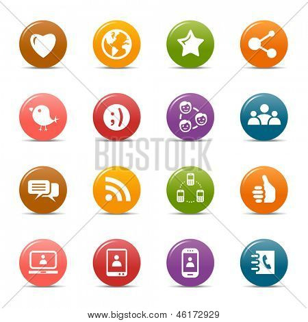 Colored Dots - Social Media Icons