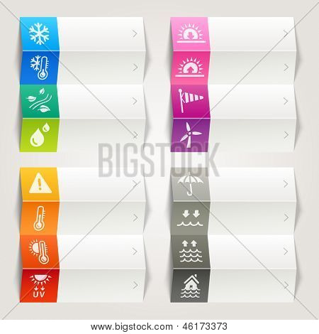 Rainbow - Weather and Meteorology Icons / Navigation template