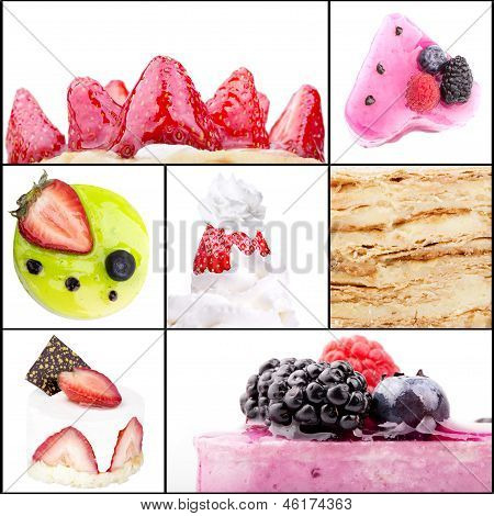 collage of tasty desserts