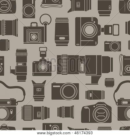 Fundo sem emenda da técnicas de foto moderno e retrô