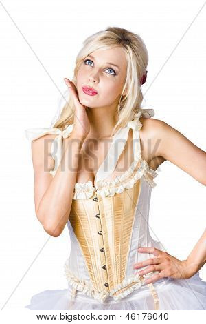 Woman In Corset Dress