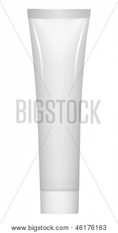 white blind plastic tube isolated on white