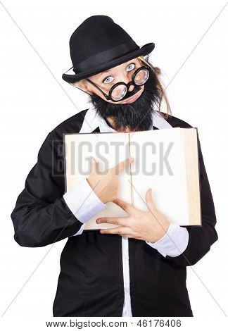 Woman Pointing At Book