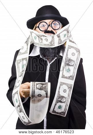 Woman Wrapped In Money