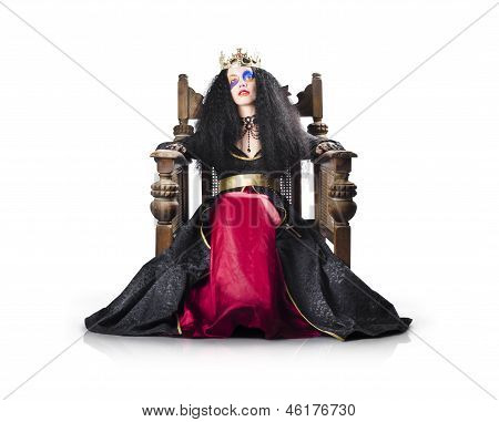 Fantasy Queen On Throne