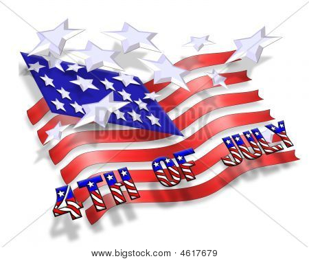 July 4Th Stars And Stripes Background Abstract