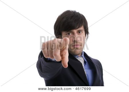Business Man Pointing Forward