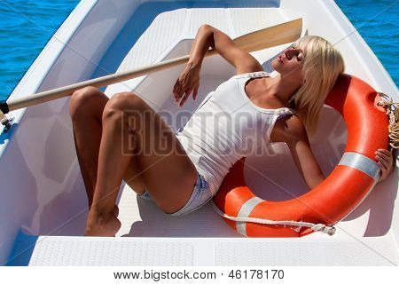 A Woman In A Lifeboat. Heat.