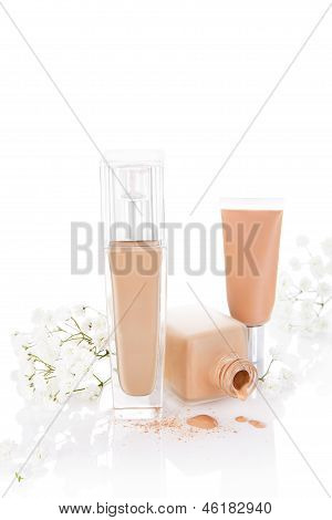 Beige Foundation And Make Up.