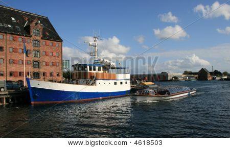 Boats In Copenhagen, Denmark