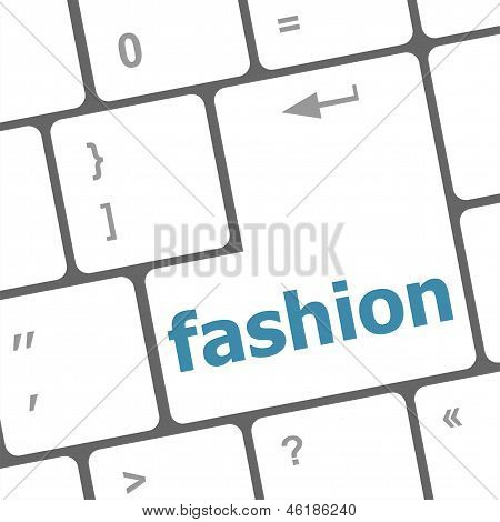 Fashion Word On Computer Pc Keyboard Key
