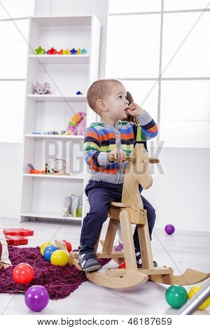 Boy Playing In The Room