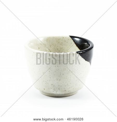 Ceramic Teacup On White Background