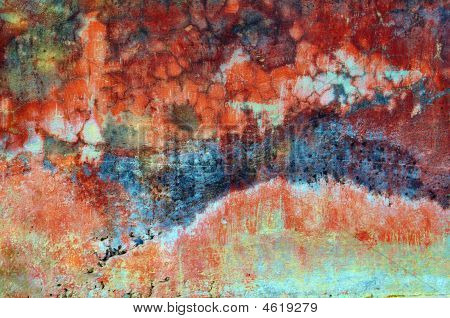 Colorful Wall Texture Grunge Background