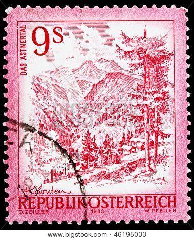 Austrian Post Stamp