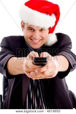 Man Controlling With Remote