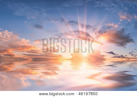 Sky Reflection In Water
