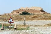 picture of ziggurat  - Ziggurat Choqa Zanbil near Shush in Iran - JPG