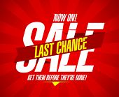 Now on, last chance sale design template