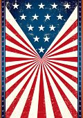 Poster of us flag. American flag in the background of this poster for you.