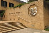 stock photo of plinth  - Courts of Justice - JPG