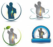 picture of chiropractor  - Healthy spine symbol - JPG