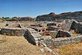 stock photo of exhumed  - Roman baths ruins of Conimbriga in Portugal - JPG